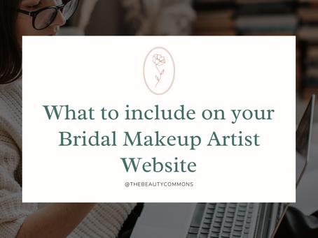 Bridal Makeup Artist Website 101