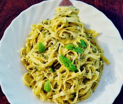 Marina's Raw Green Pesto Pasta