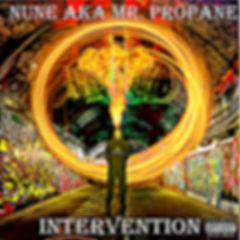 "Nune AkaMr. Propane Debut Album ""Intervention"" Cover Art"