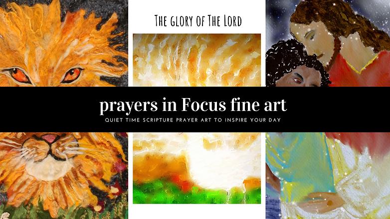 Prayers in focus fine arts banner