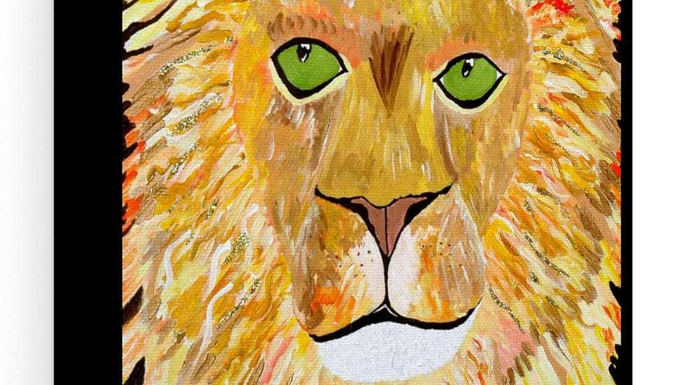 Stretched canvas- The lion of Judah king of kings