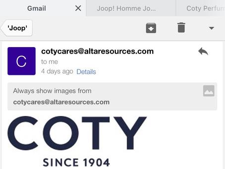 Coty discontinues Joop! fragrances in North America