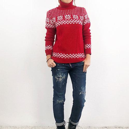 Maglione snow variante rosso