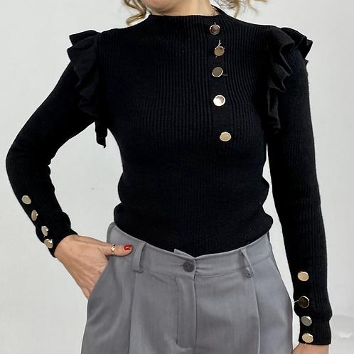 Maglioncino glam nero