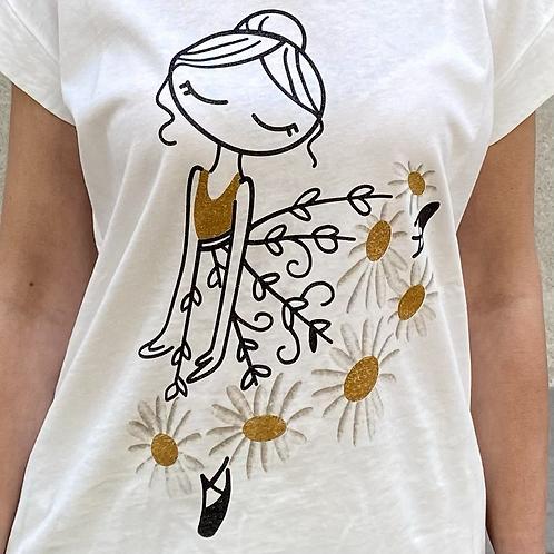 T-shirt glitter ballerina