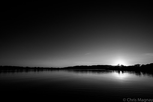 Sunset in BnW