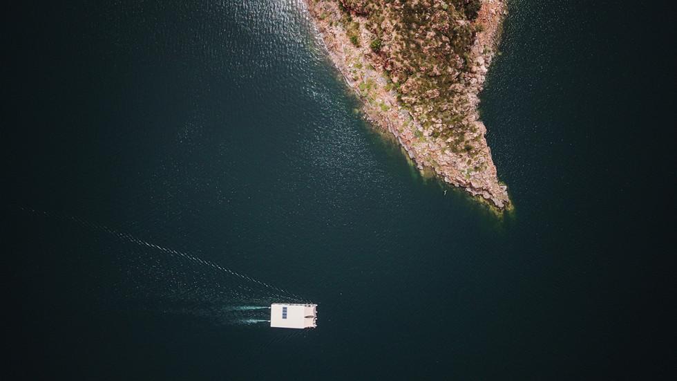 Rounding the Cape, Lake Argyle