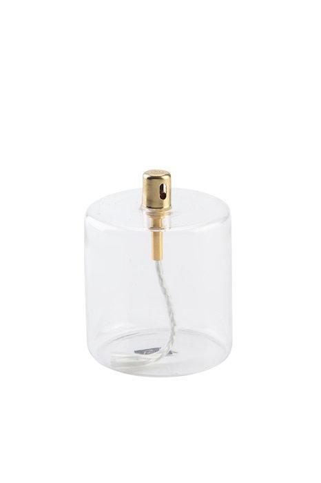 Lampe à huile cylindrique en verre 8,5 cm