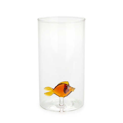 Vase cylindrique ATLANTIS ambre