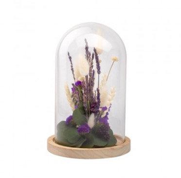 Cloche fleurs séchées Lavande