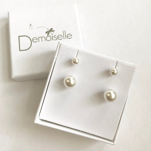 Mother and Child Post Earring set