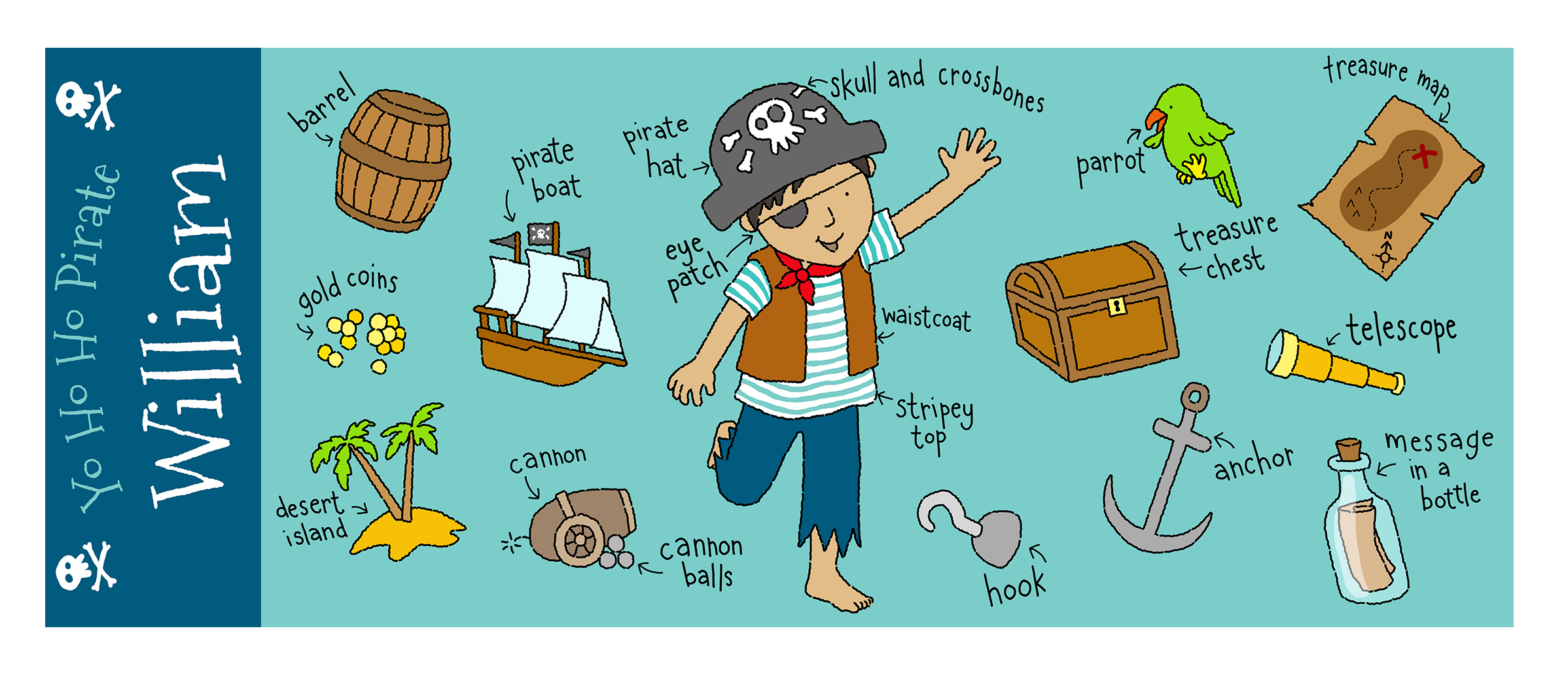 claire keay_pirate items
