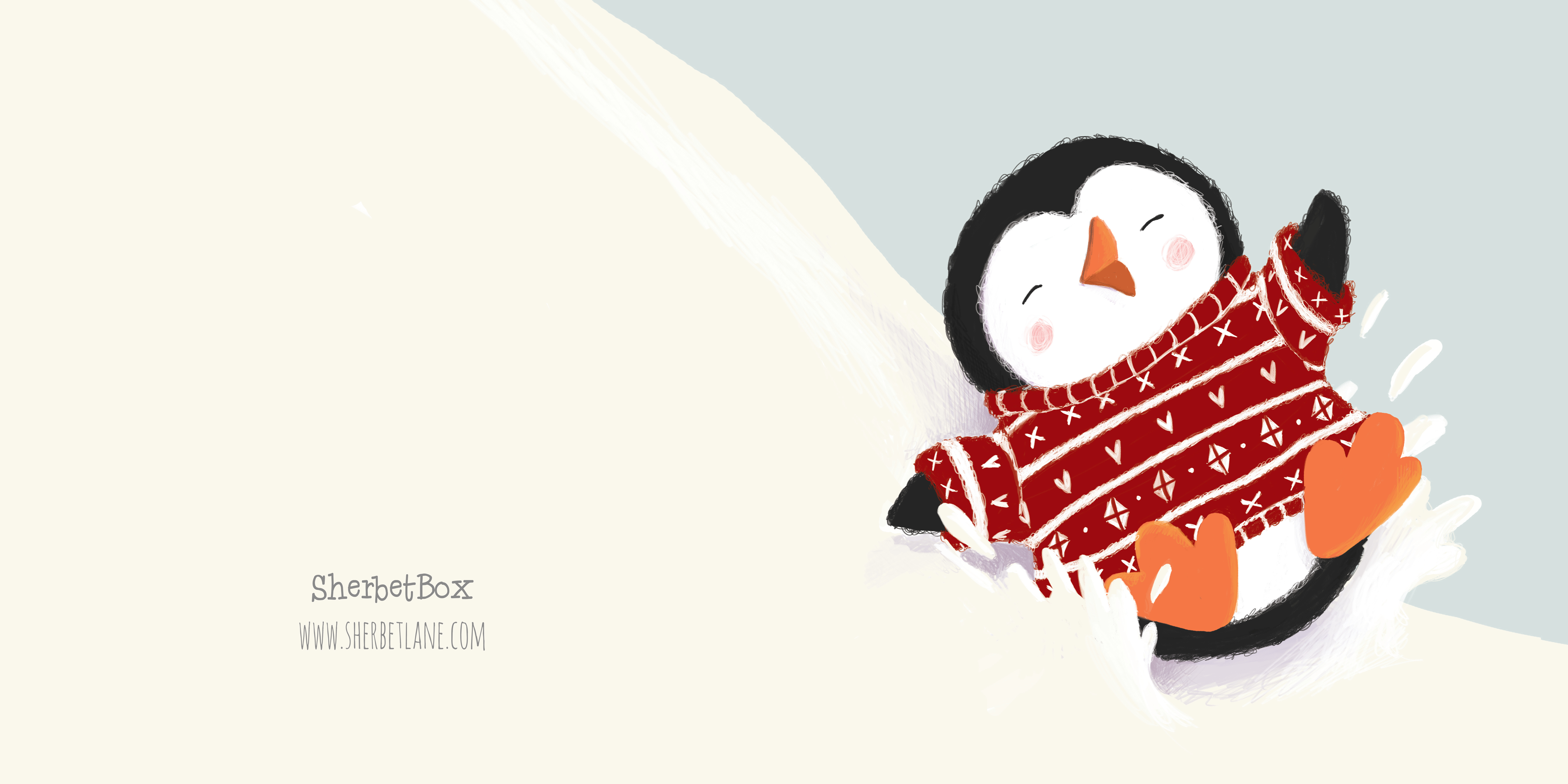 penguin Greetings Card_claire keay