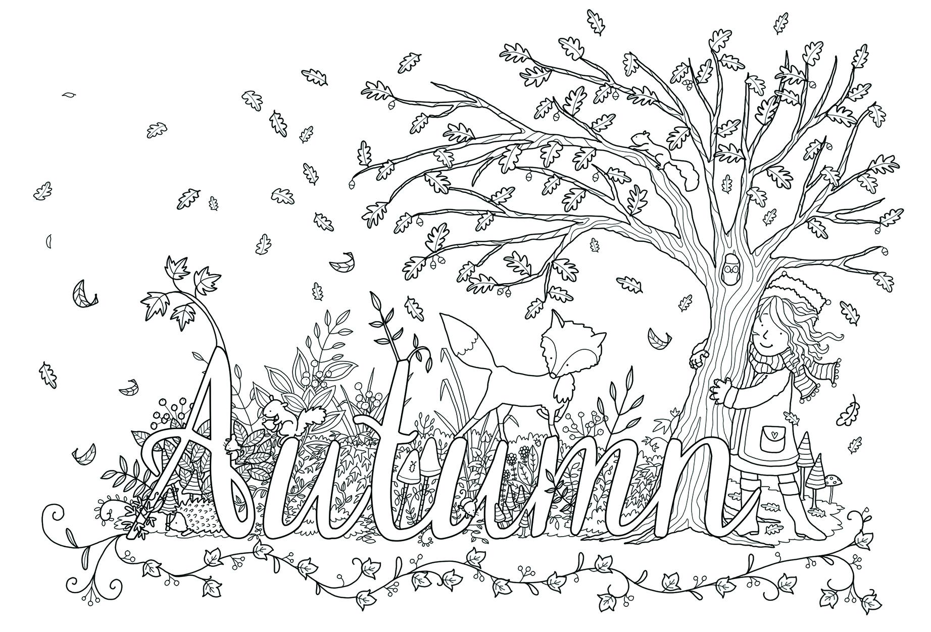 claire keay_autumn adult colouring line art