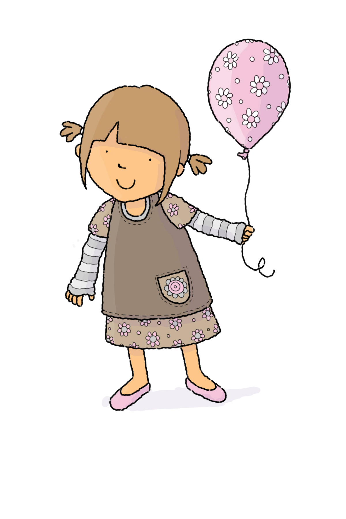claire keay_girl and flower balloon