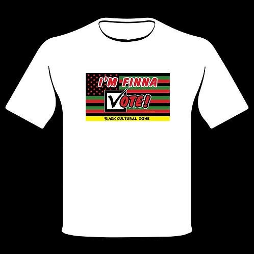 I'm Finna Vote Flag T-shirt