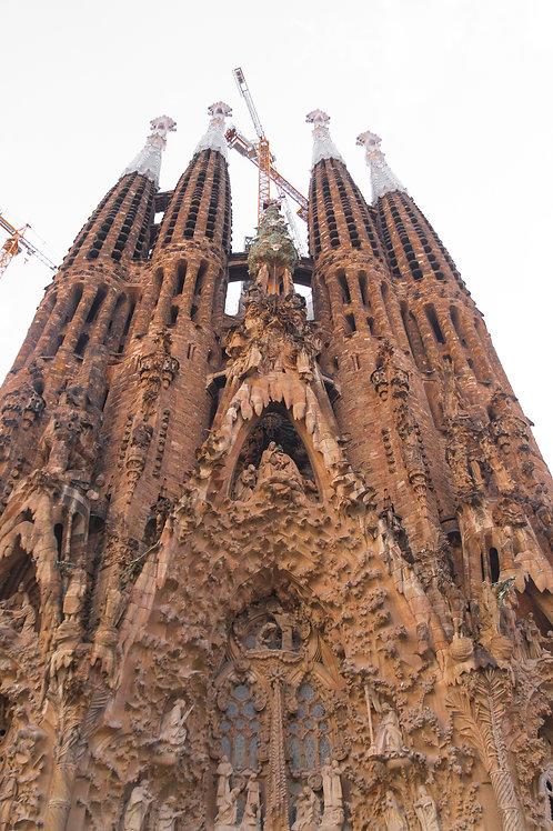 "La Sagrada Familia, 12""x18"" Canvas"