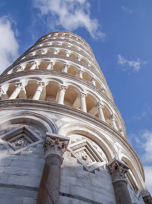 """Torre de Pisa, 11""""x 14 Canvas"""
