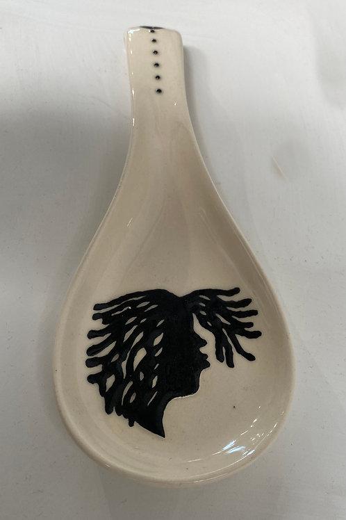 Sister Locs Ceramic Spoon Rest