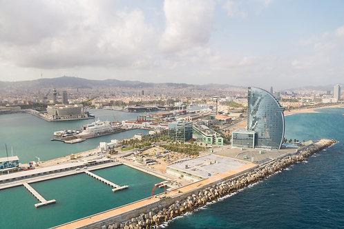 "Mediterranean Coast, 16""x24"" Canvas"