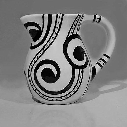 Afri-Paisley Ceramic Pitcher