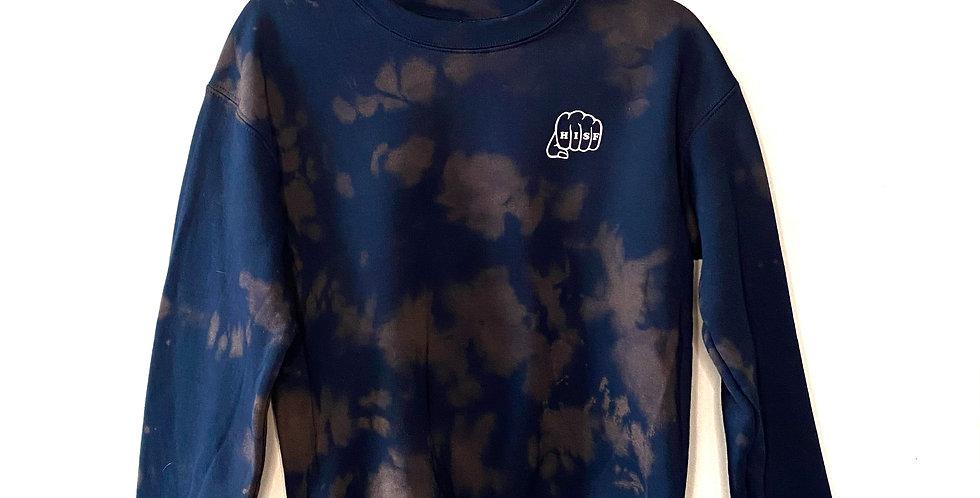 Navy Tie-Dye Crewneck Sweater