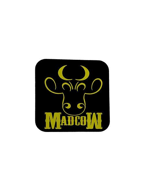 Gold MadcoW Logo Sticker