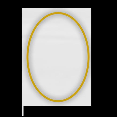 Decoro filo oro ovale
