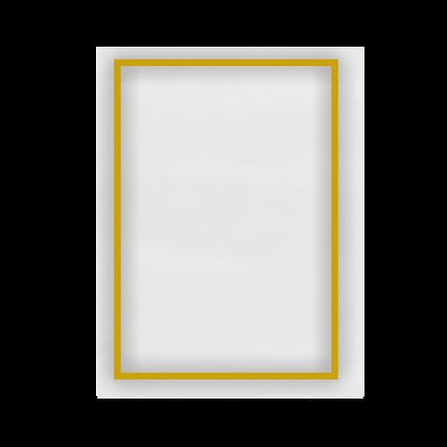 Decoro filo oro rettangolare
