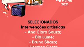 Selecionados para apresentar no Festival Pá na Pedra 2021