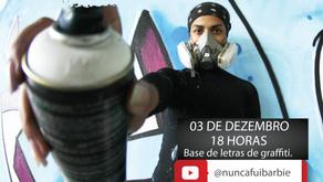 Projeto de graffiti realiza oficinas virtuais para moradores de Ribeirão das Neves
