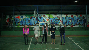 Projeto de graffiti faz muralismo em escola