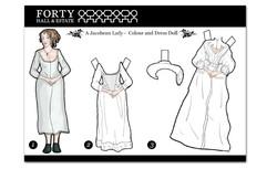 Jacobean Lady Paper doll