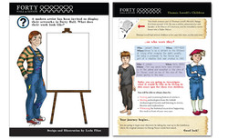 Two illustrated worksheets