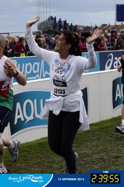 Meg running the GNR in 2013