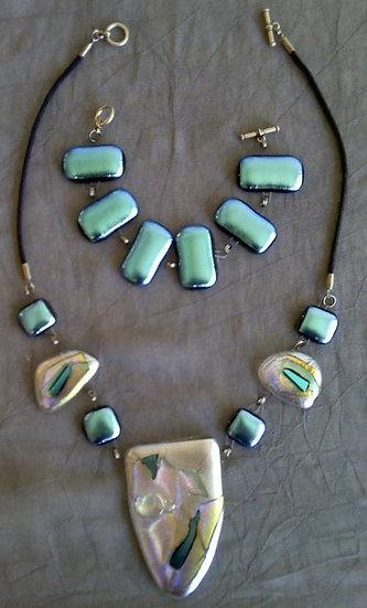 Taos Moon Drop Center Necklace and Bracelet Set
