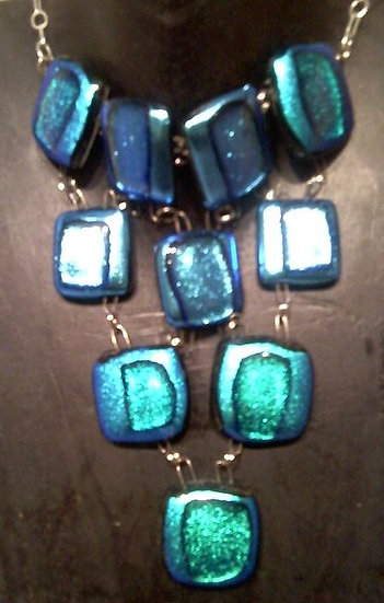 Egyptian Goddess Turquoise Breastplate Necklace