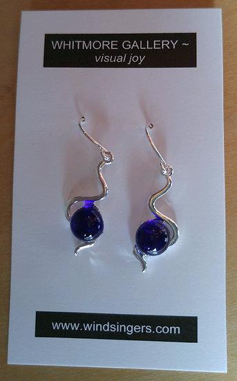 Cobalt Wavy Earrings