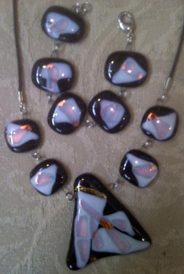 Black Opal Necklace and Bracelet Set