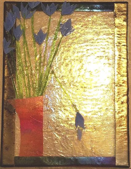 Blue Tulips in Vase