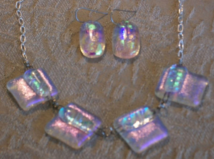 Lavender Love Necklace and Earring Set