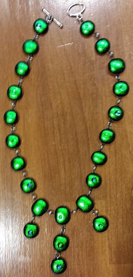 Emerald City Full Wrap Necklace with Triple Drop Center
