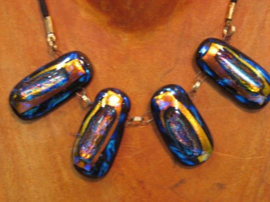 Blue and Gold Four Piece Necklace