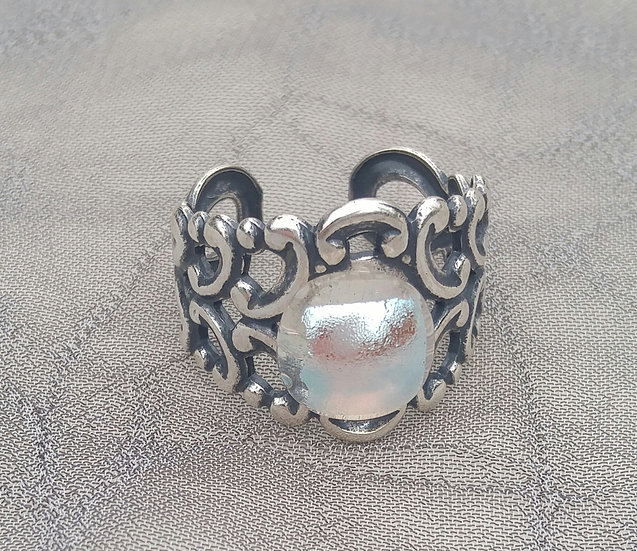 Glacier Goddess Adjustable Ring