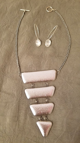 Icefall necklace and earrings