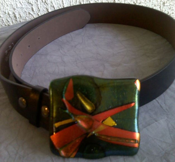 Campfire Belt Buckle with Belt