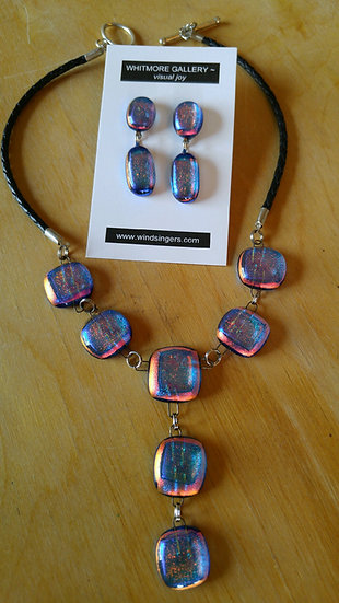 Caribbean Sunset Mini Drop Center Necklace