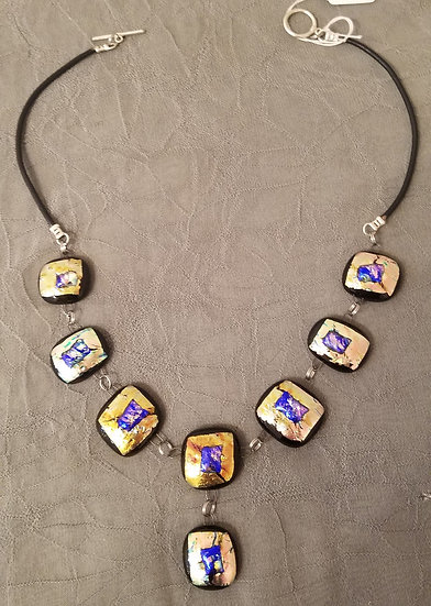 Golden geode necklace