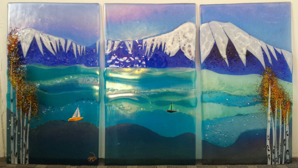 Mountain Ocean Triptych