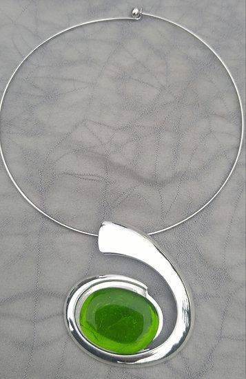 Peridot Swirl Necklace